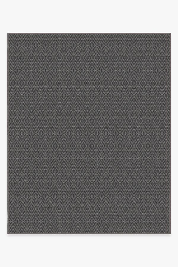 Washable Rug Cover   Outdoor Halo Diamond Grey Rug   Stain-Resistant   Ruggable   8'x10'