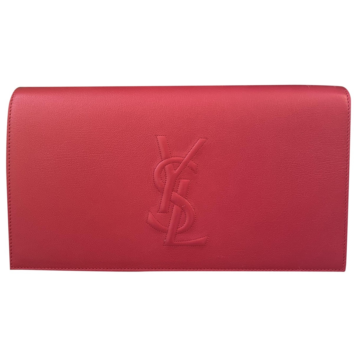 Yves Saint Laurent Belle de Jour Clutch in  Rot Leder