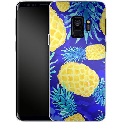 Samsung Galaxy S9 Silikon Handyhuelle - Pineapple Crush von Mukta Lata Barua
