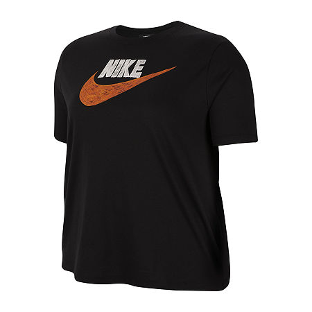 Nike Womens Crew Neck Short Sleeve T-Shirt Plus, 3x , Black