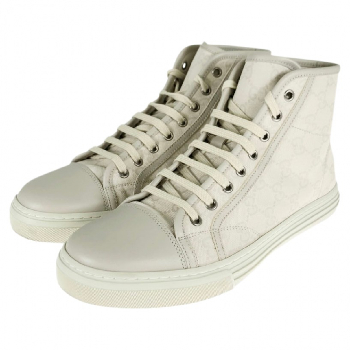 Gucci N White Cloth Trainers for Men 7.5 US