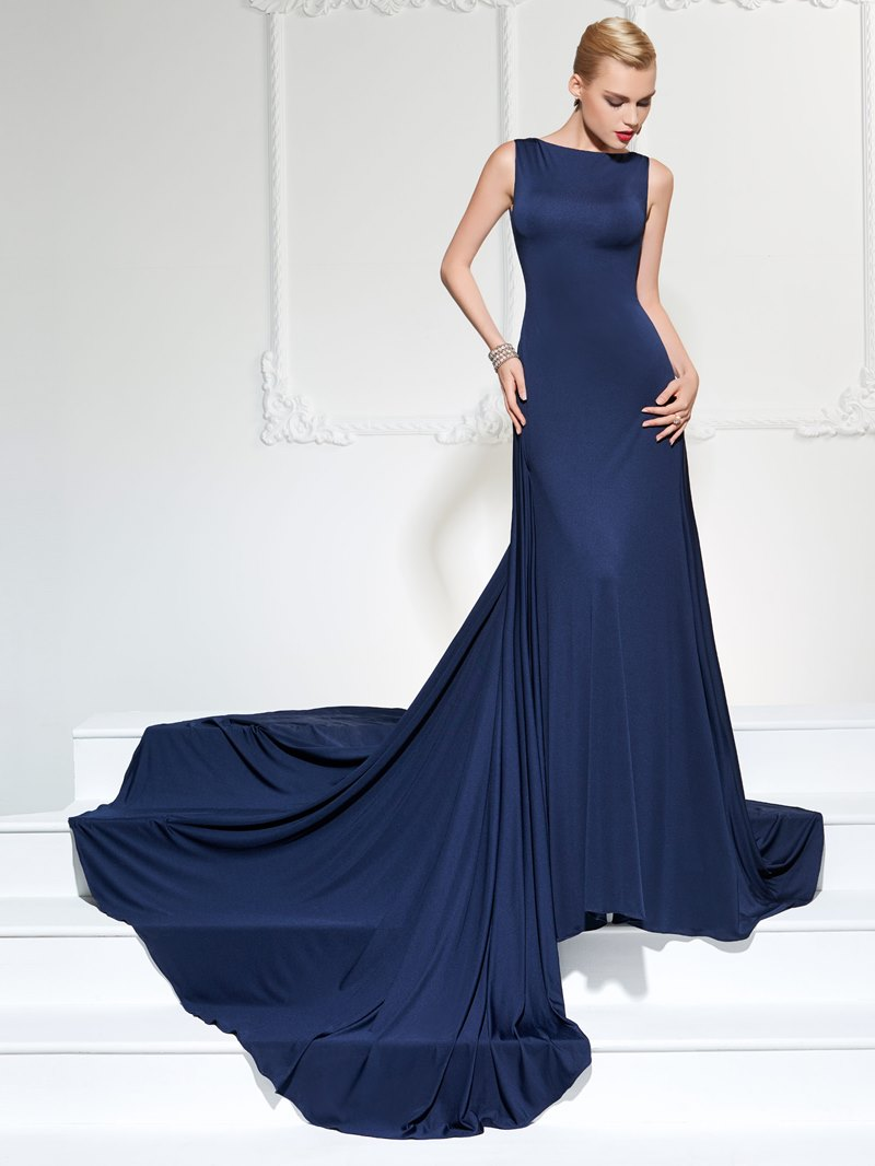Ericdress Bateau Neck Low Back Evening Dress