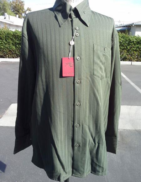 mens classic stripe olive long sleeve walking suit
