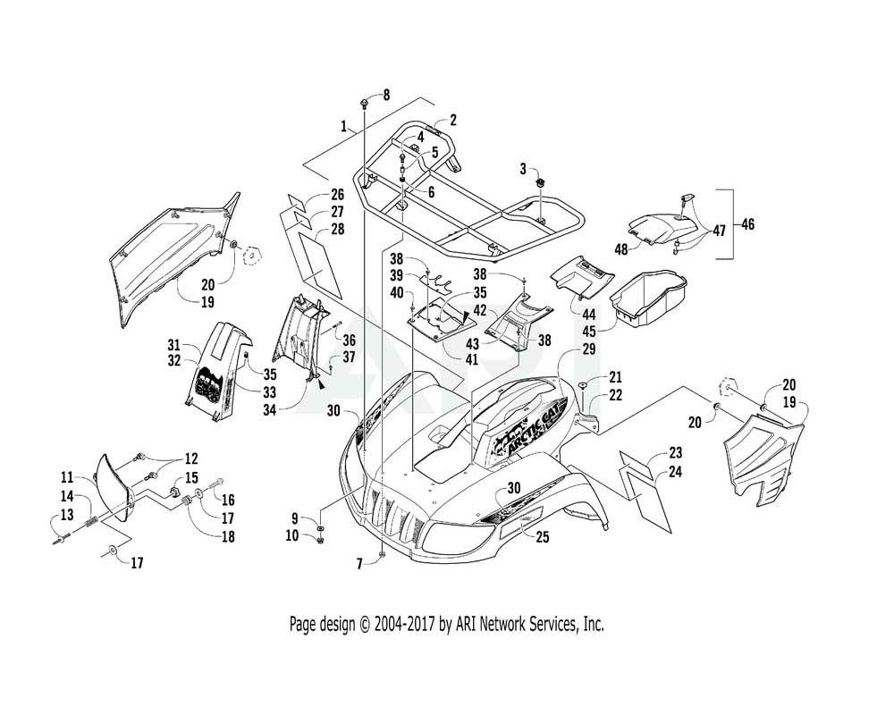 Arctic Cat OEM 2516-607 Fender Front S.D.White Assembly   (Inc. 23 28)