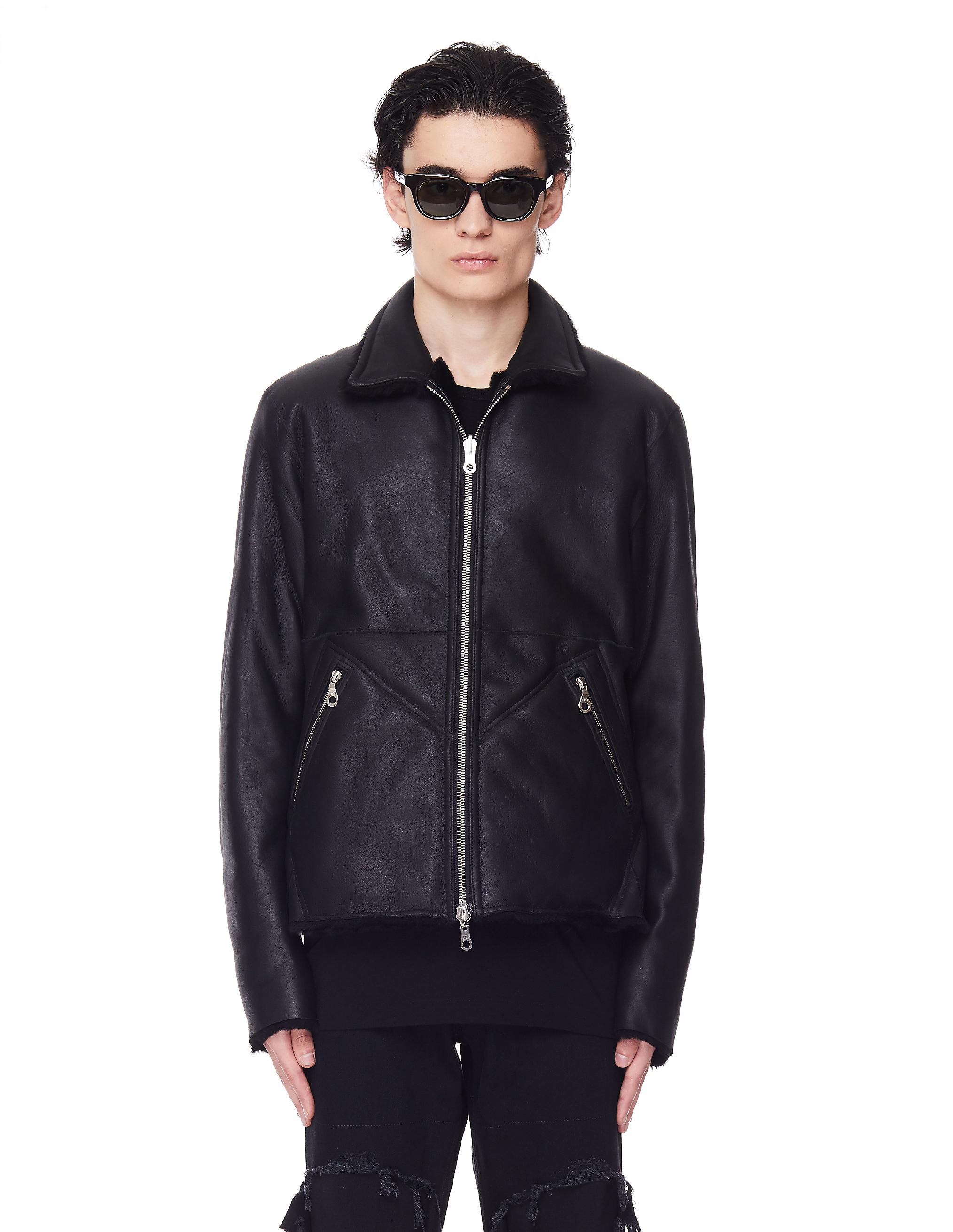 Yohji Yamamoto Black Reversible Backlash Shearling Jacket
