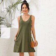 Reines Tank Kleid mit Tasche