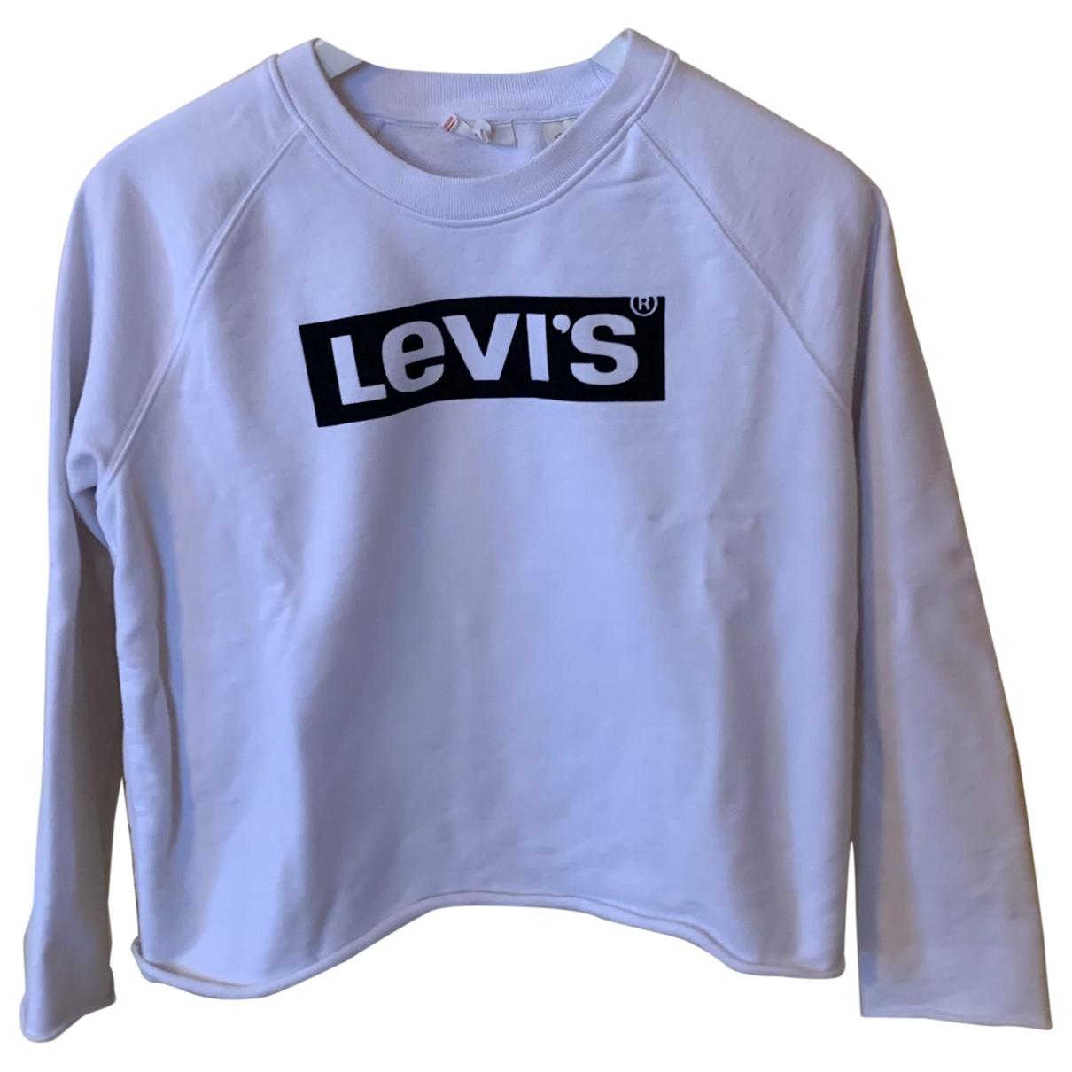 Levis - Robe   pour femme en coton - blanc