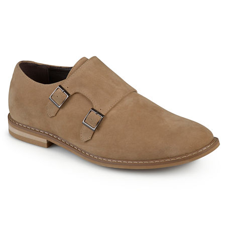 Vance Co Mens Isaac Monk-Strap Loafers Round Toe, 10 Medium, Brown