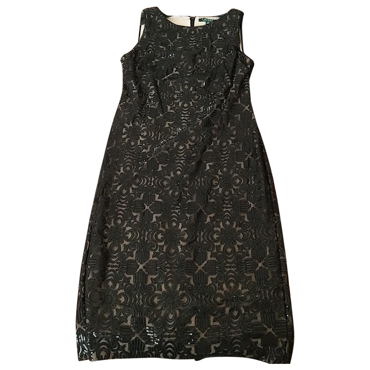 Lauren Ralph Lauren \N Black Glitter dress for Women 44 FR