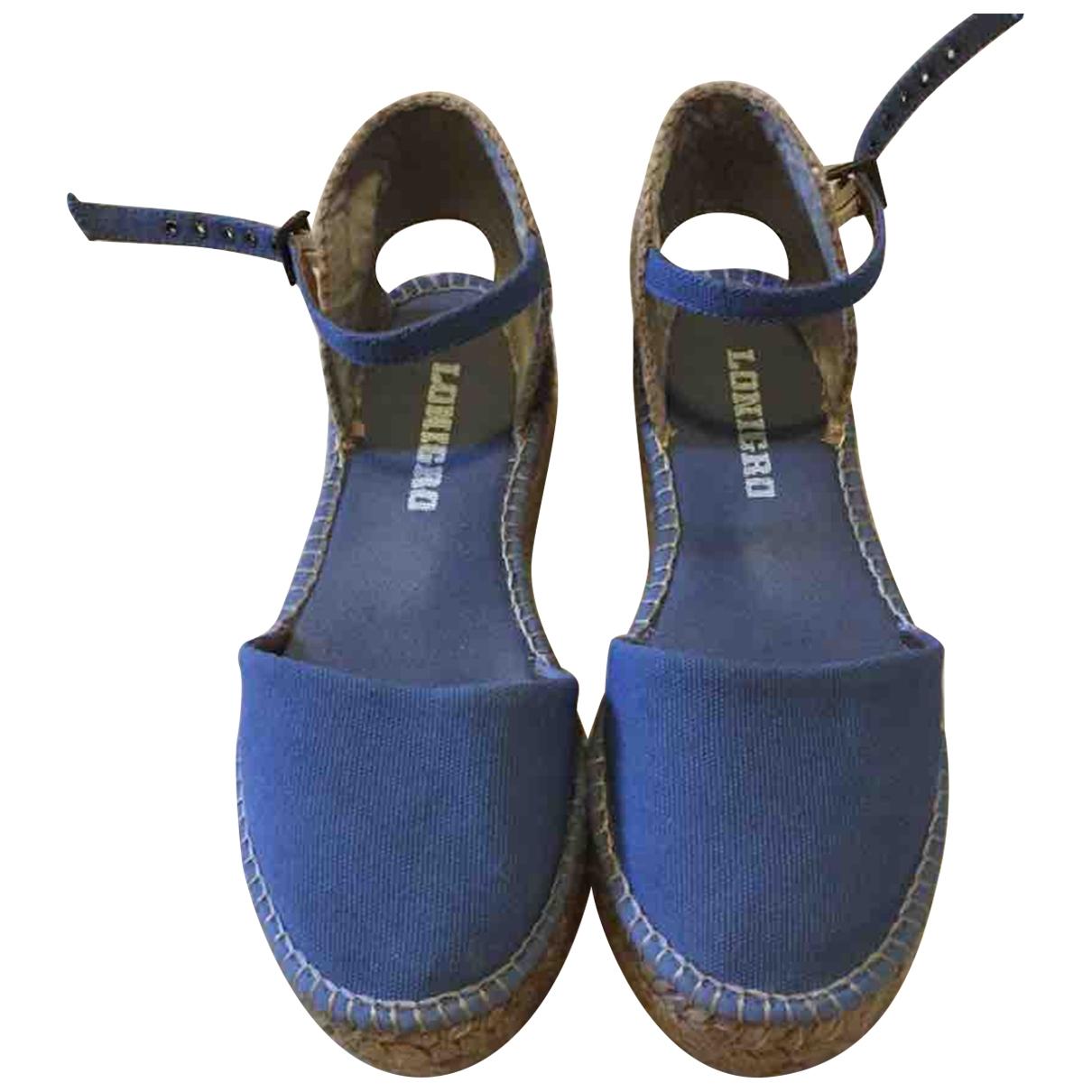 Italia Independent - Espadrilles   pour femme en toile - bleu