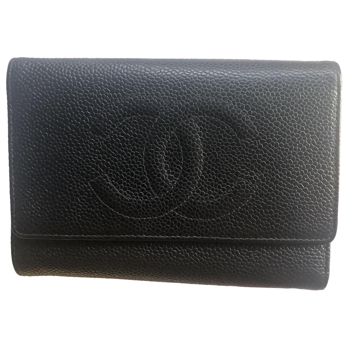 Chanel \N Kleinlederwaren in  Schwarz Leder