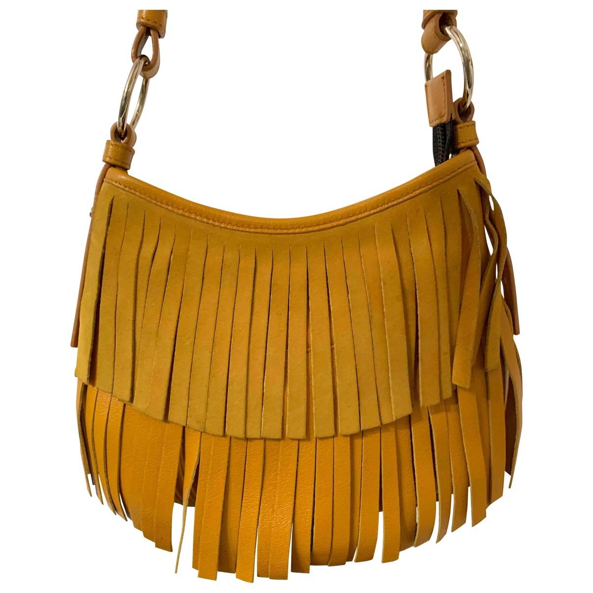 Yves Saint Laurent - Sac a main   pour femme en cuir - jaune
