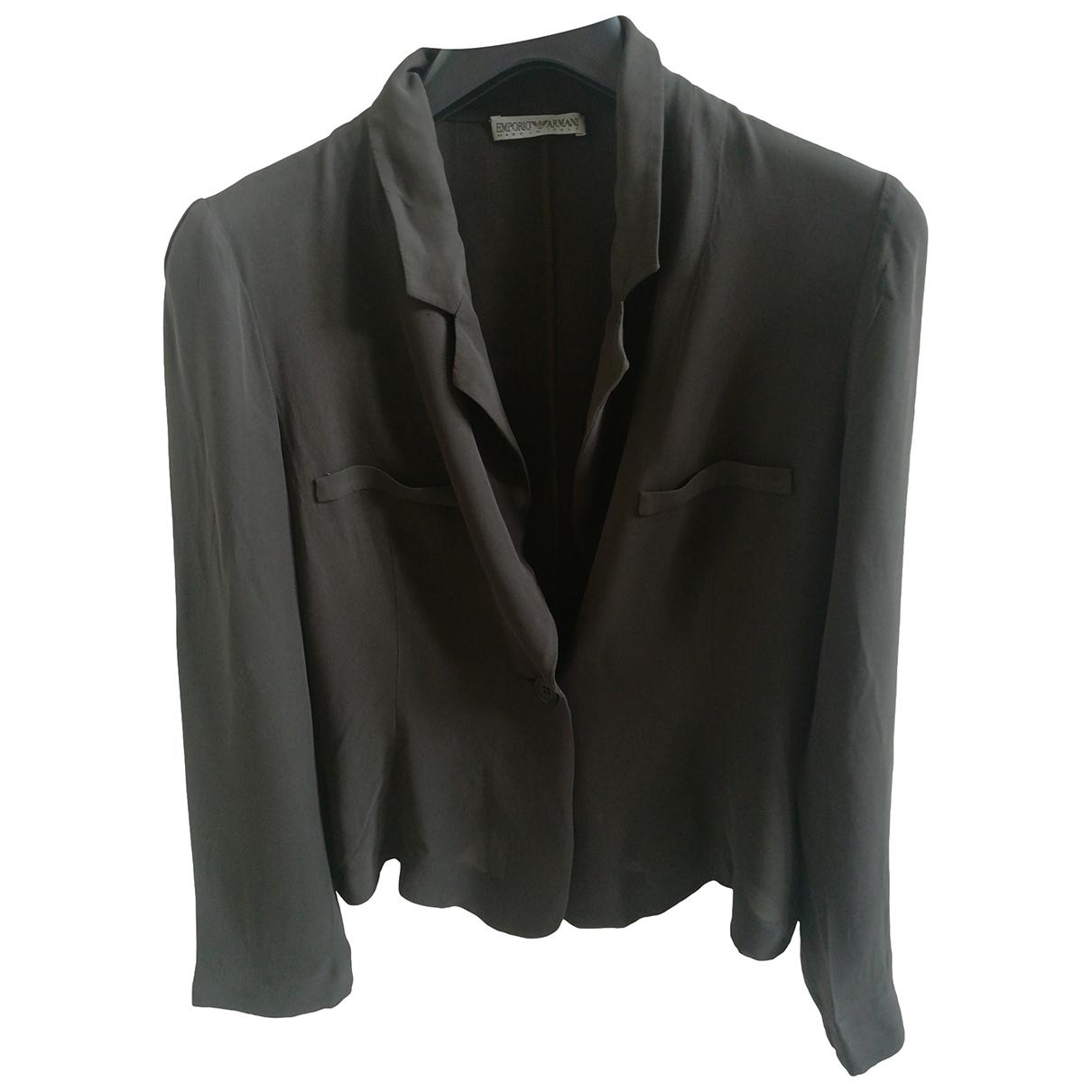 Emporio Armani - Veste   pour femme en soie - marron