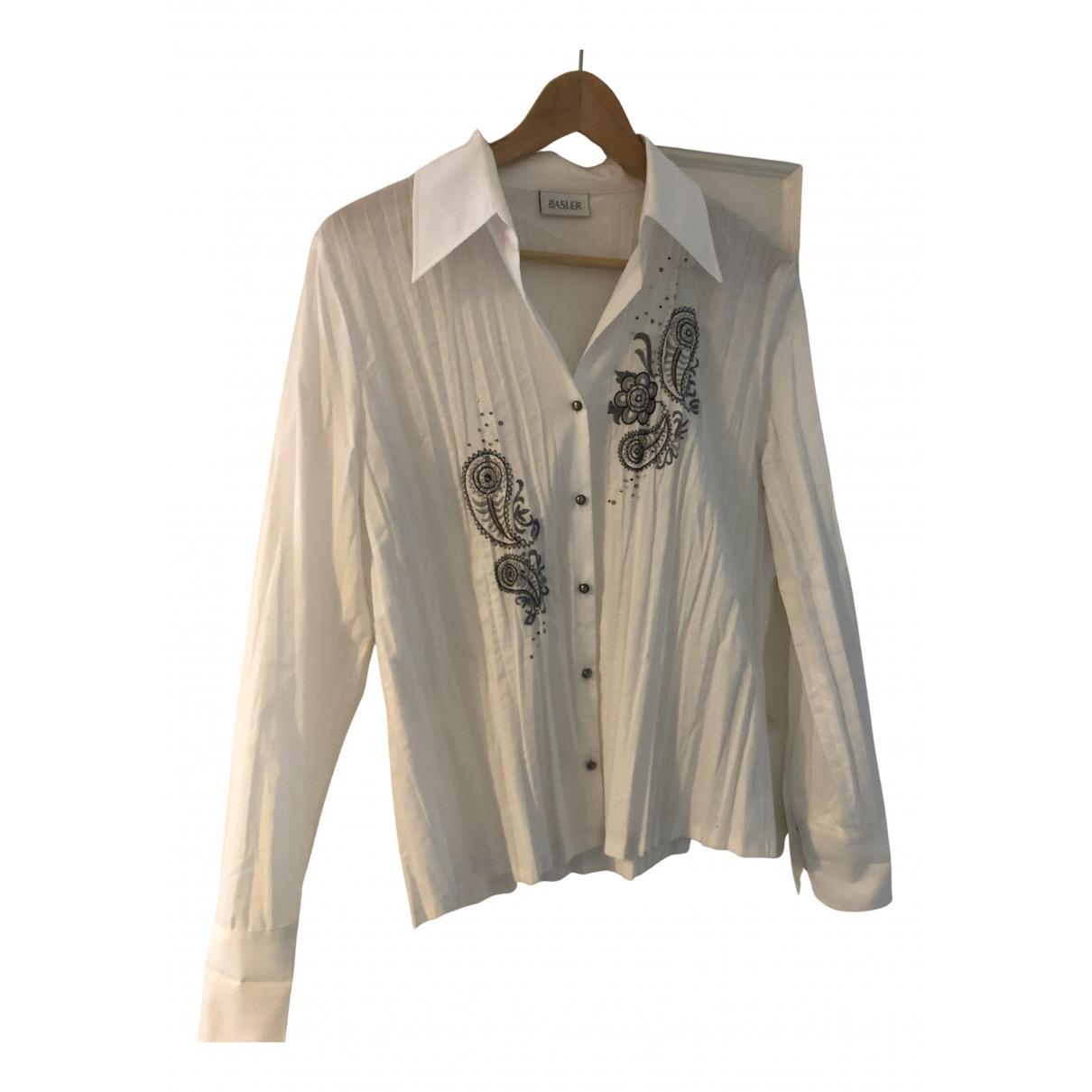 Basler - Top   pour femme en coton - blanc