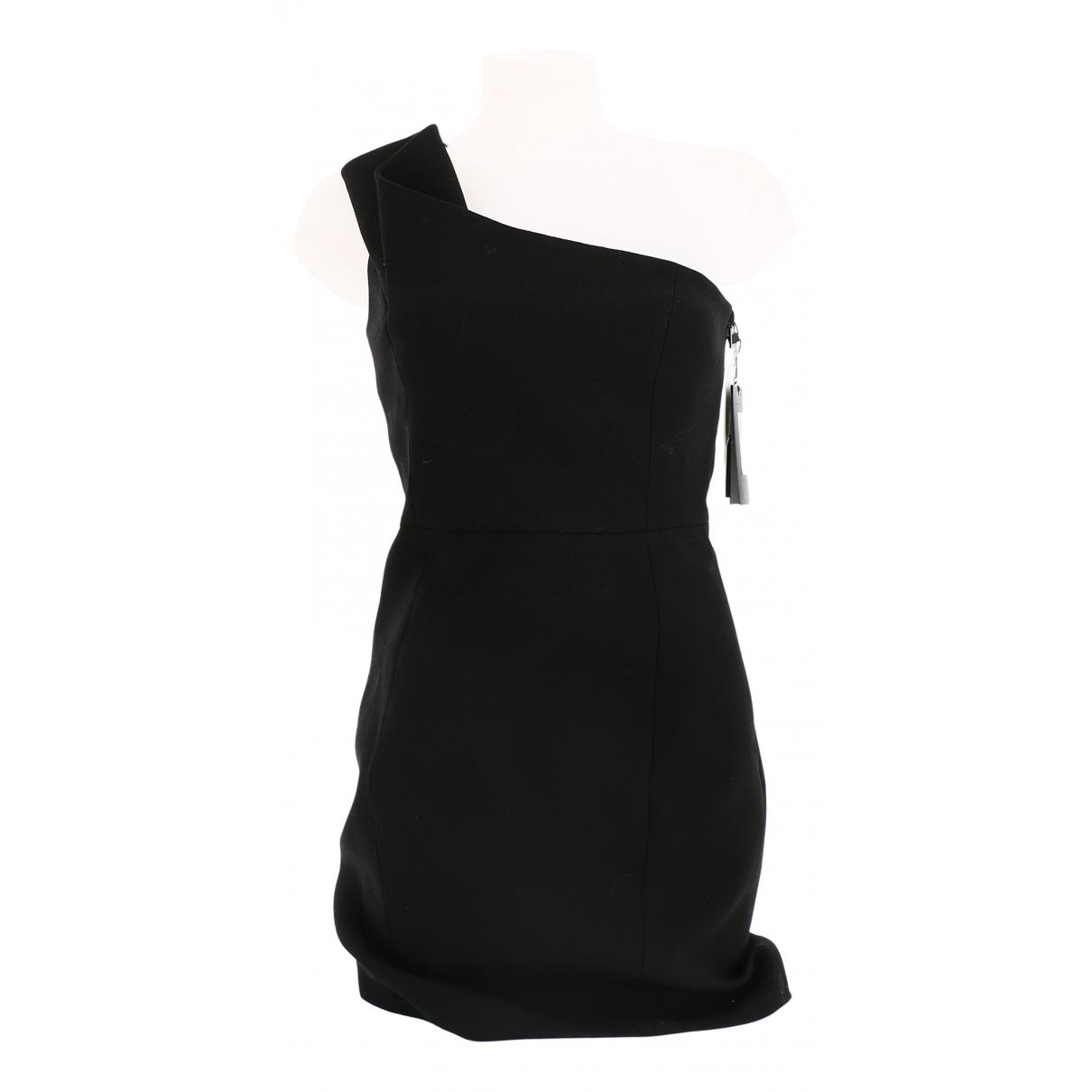 Yves Saint Laurent \N Kleid in  Schwarz Baumwolle