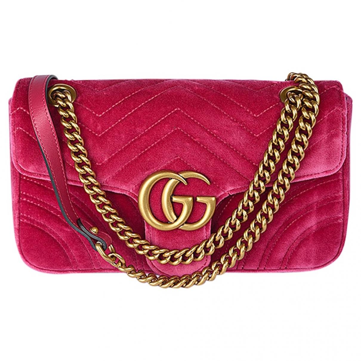Gucci Marmont Pink Velvet handbag for Women \N