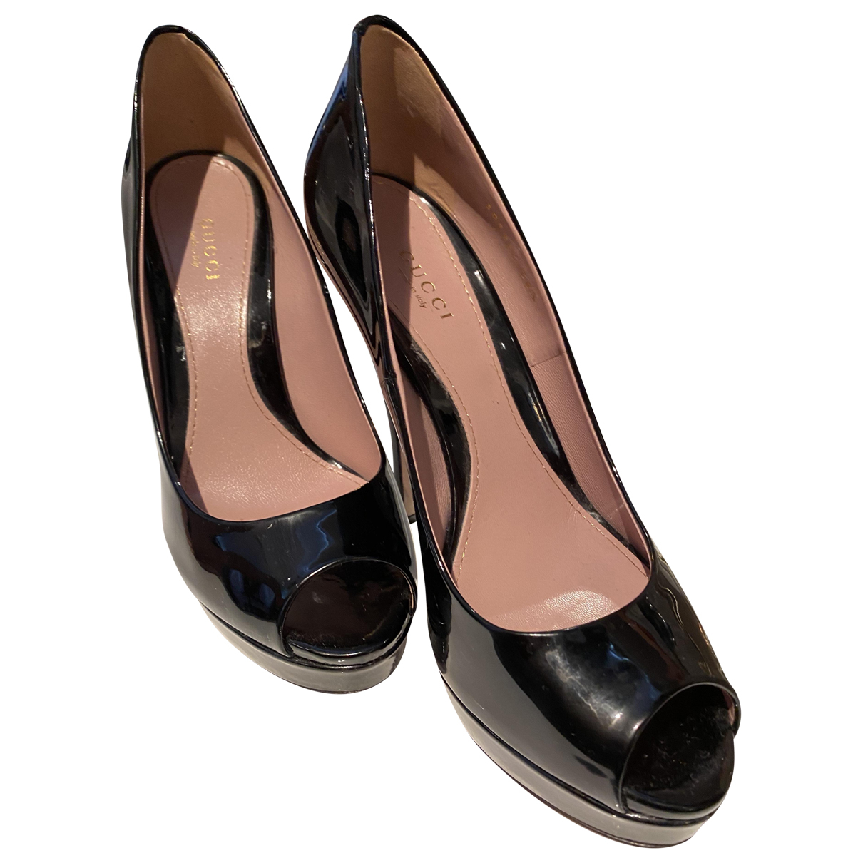 Gucci \N Black Patent leather Heels for Women 38.5 EU