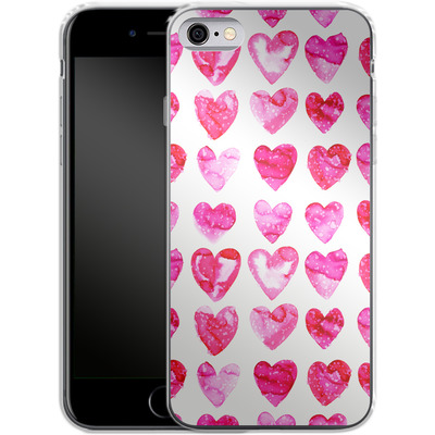 Apple iPhone 6s Silikon Handyhuelle - Heart Speckle von Amy Sia