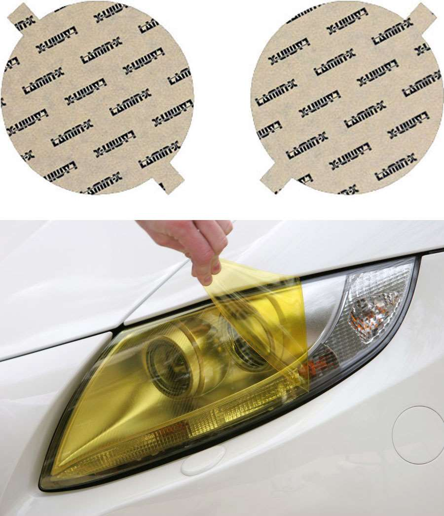 BMW 3-Series 82-91 [EURO spec] Yellow Headlight Covers Lamin-X B006EY