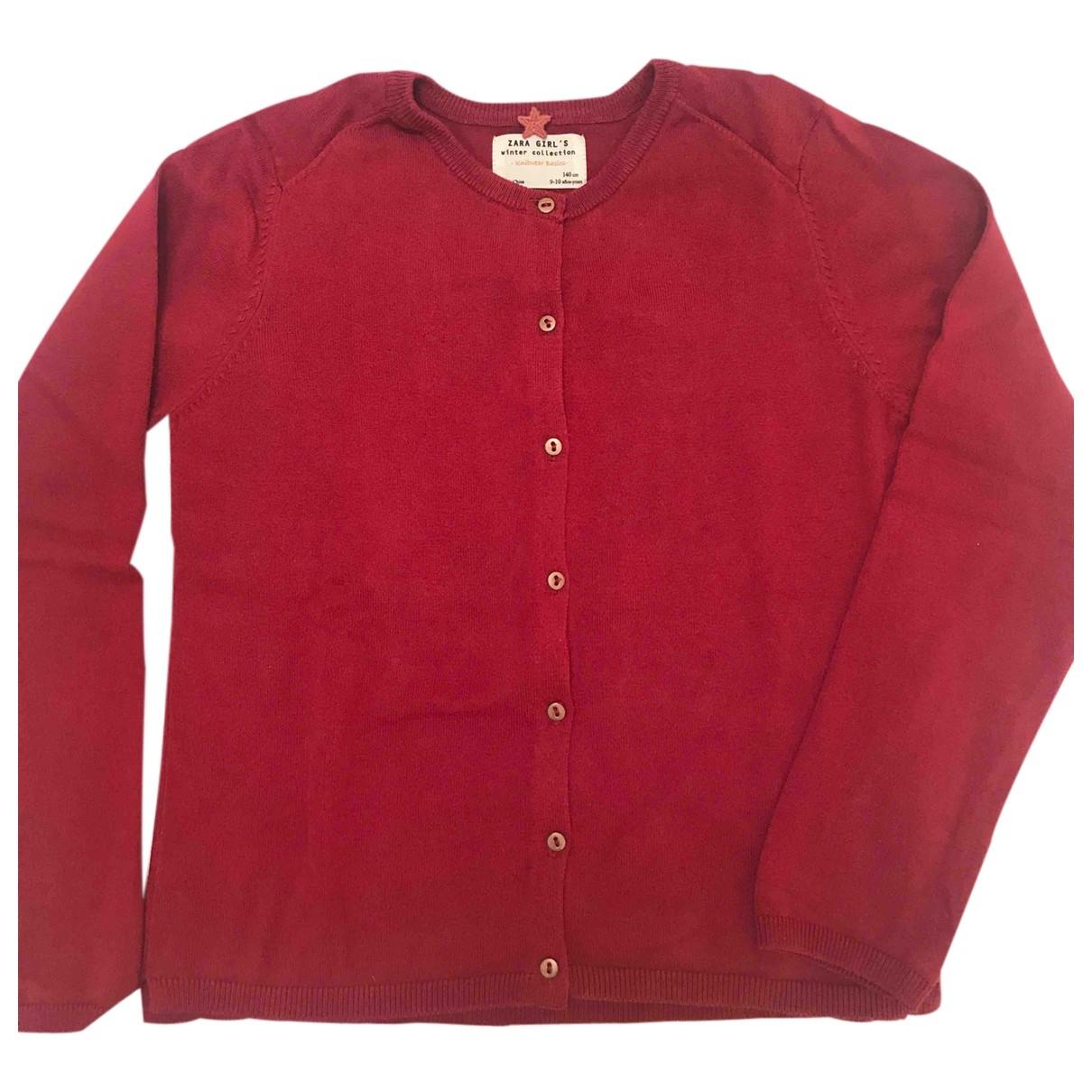 Zara - Pull   pour enfant en coton - bordeaux