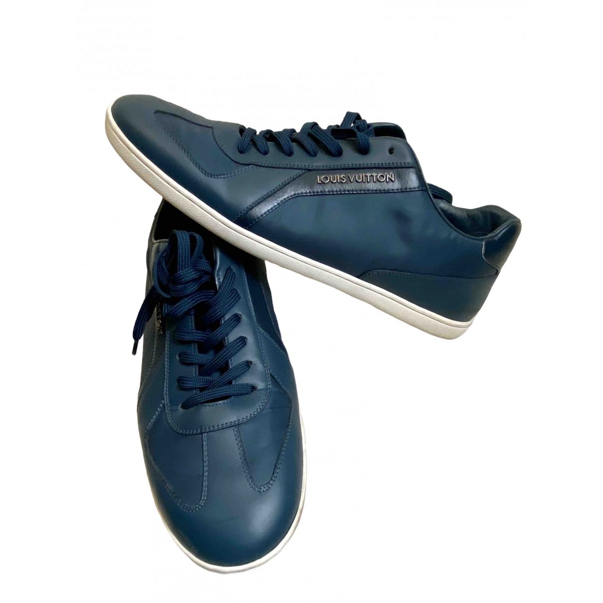 Louis Vuitton \N Sneakers in  Blau Leder