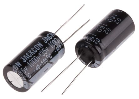 RS PRO 1000μF Electrolytic Capacitor 35V dc, Through Hole (10)