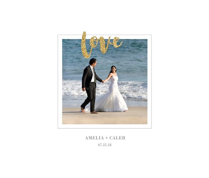 Love Canvas Print, 8x10, Home Décor -Love Glitter
