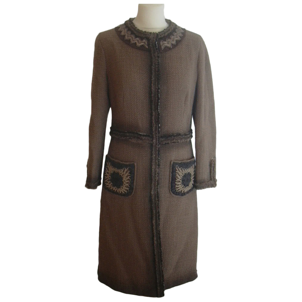 Prada N Brown Wool coat for Women 44 IT