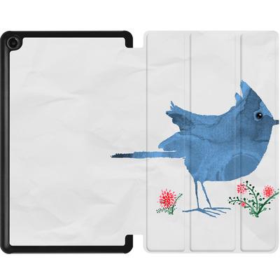 Amazon Fire 7 (2017) Tablet Smart Case - Watercolour Bird White von caseable Designs
