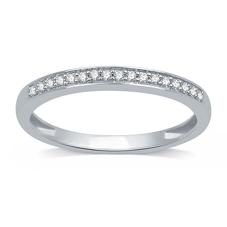 I Said Yes 1/10 CT. T.W. Lab Grown White Diamond Sterling Silver Band, 5 , No Color Family