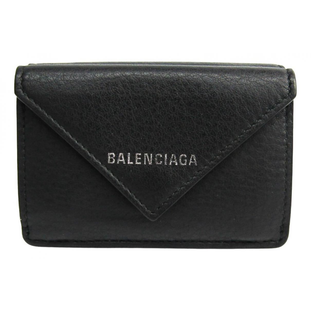 Balenciaga \N Portemonnaie in  Schwarz Leder