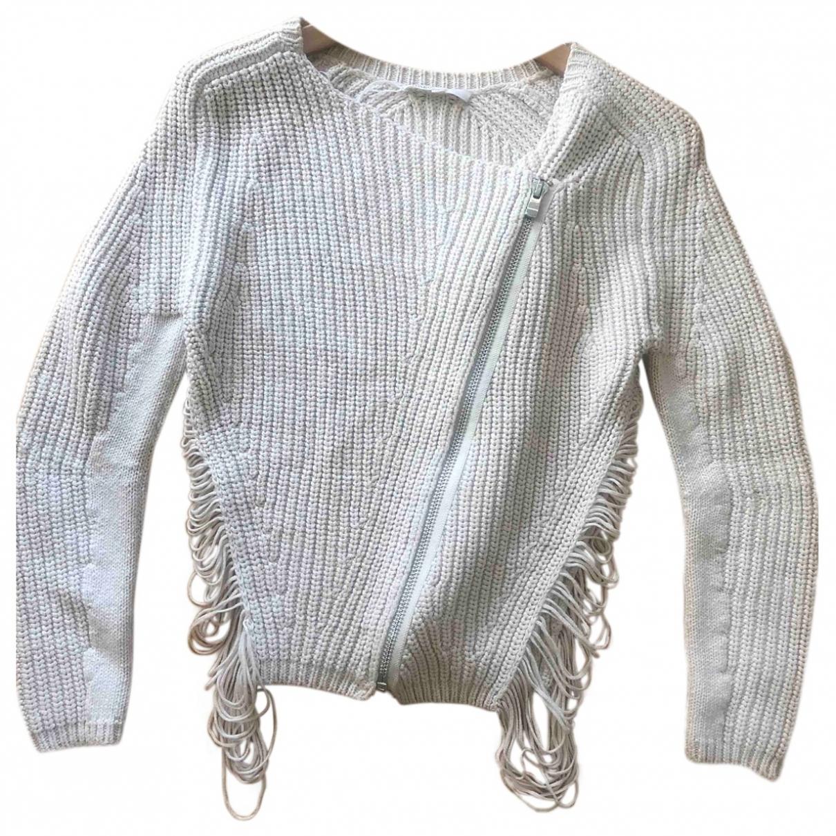 Maje - Pull   pour femme en coton - beige