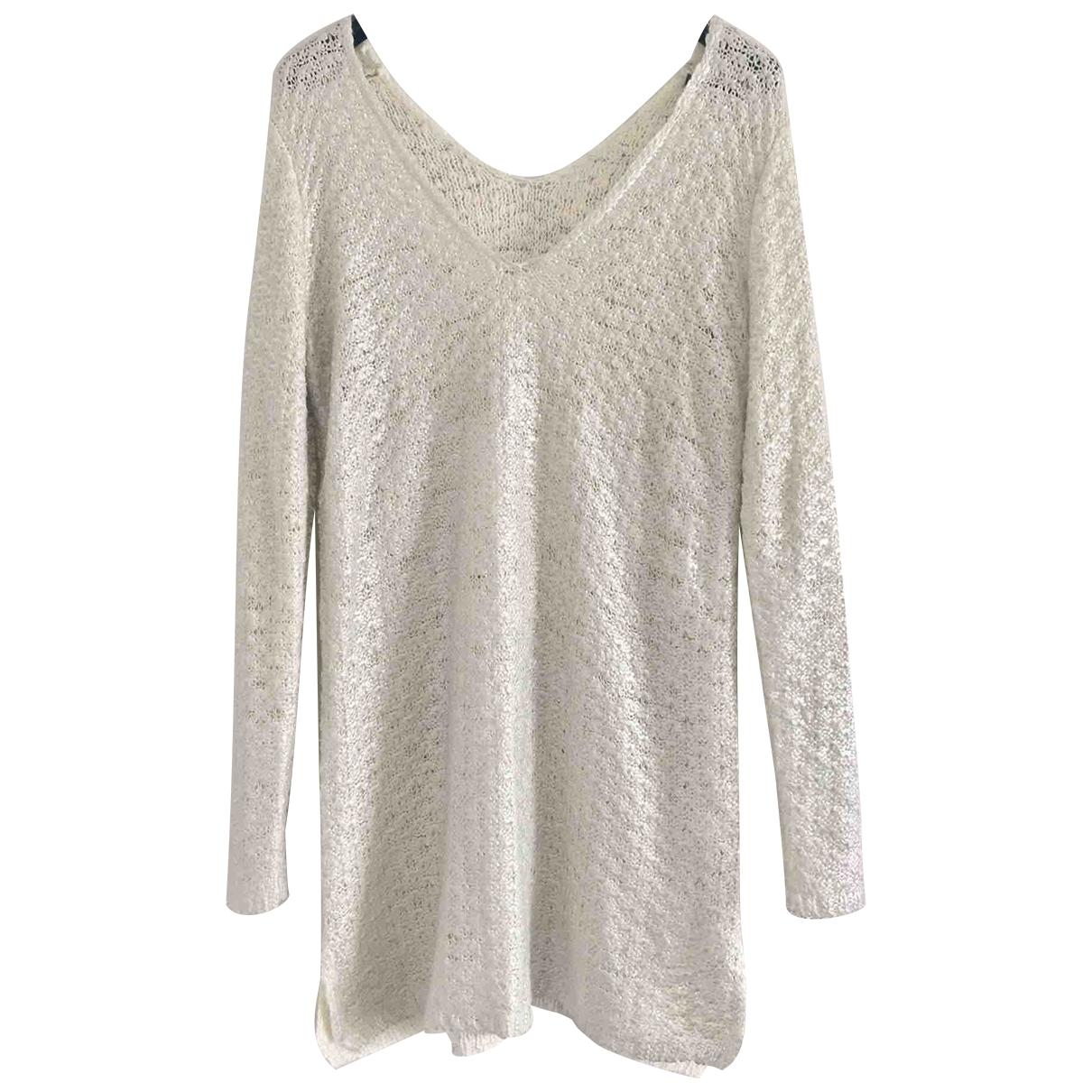Twin Set \N White Wool dress for Women 40 FR