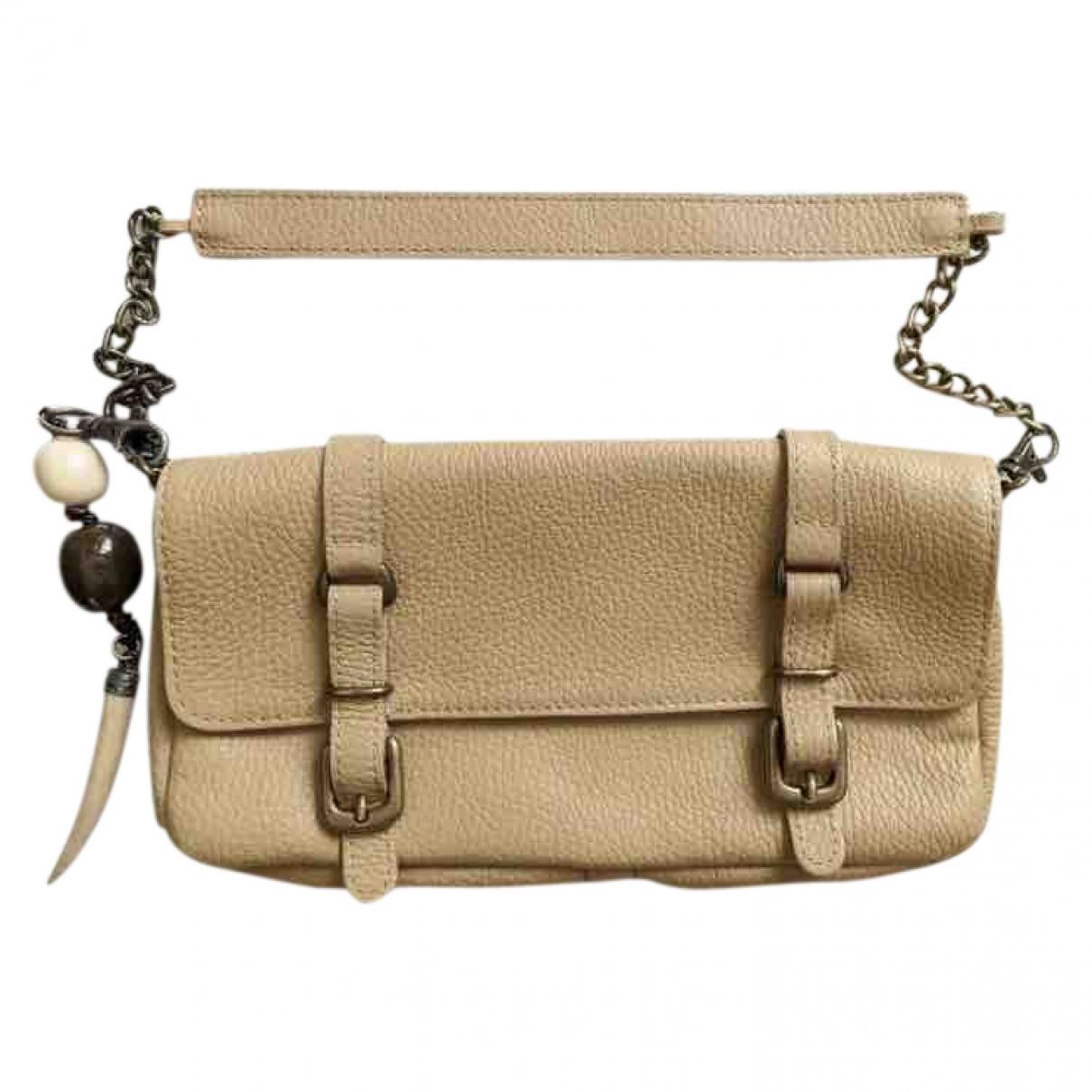 Massimo Dutti \N Camel Leather handbag for Women \N