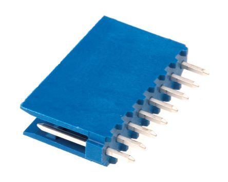 TE Connectivity , AMPMODU HE14, 8 Way, 1 Row, Straight PCB Header (10)