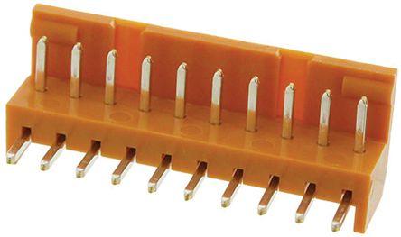 JAE , IL-G, 10 Way, 1 Row, Right Angle PCB Header (10)