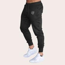 Pantalones para hombres de cintura con cordon