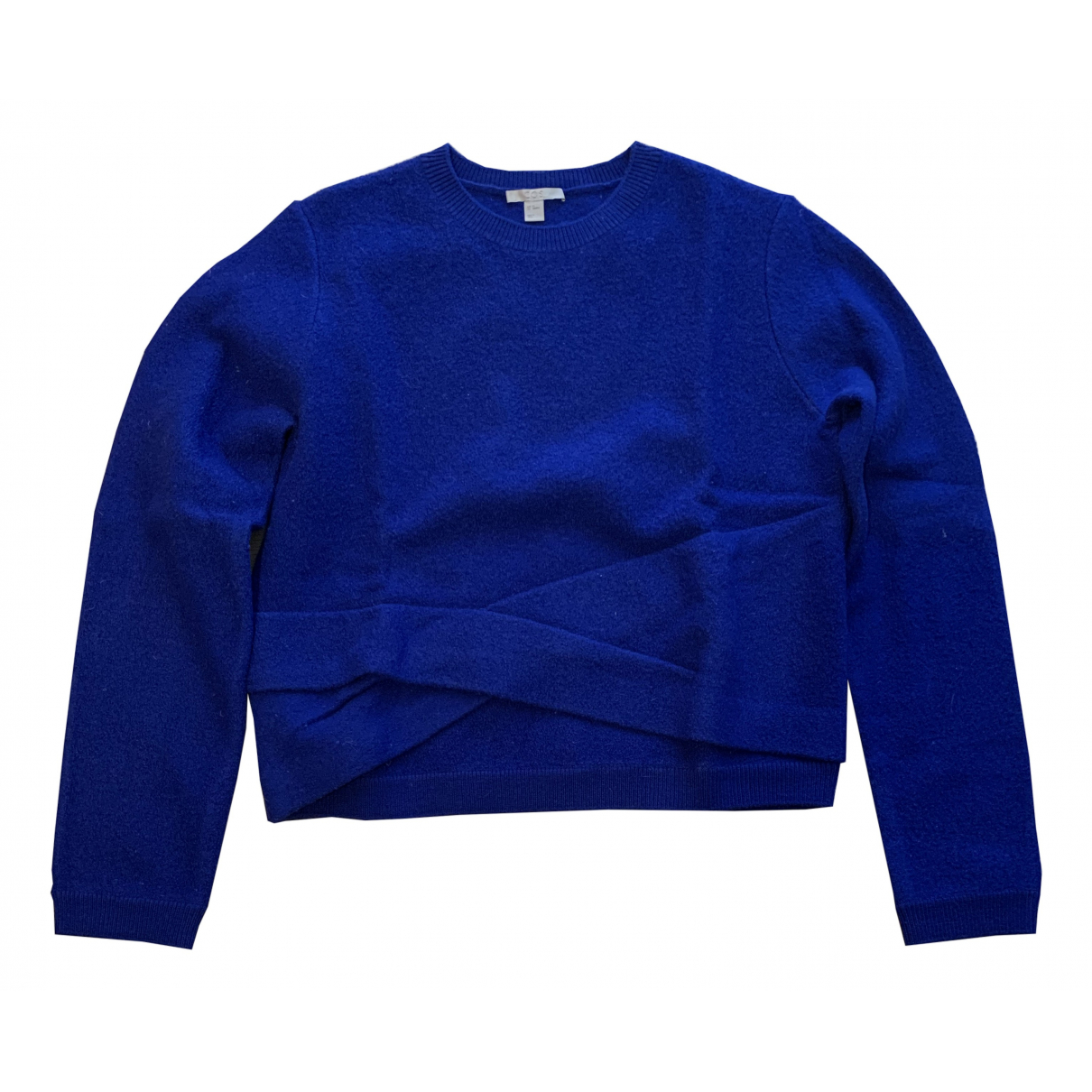Cos - Pull   pour femme en laine - bleu