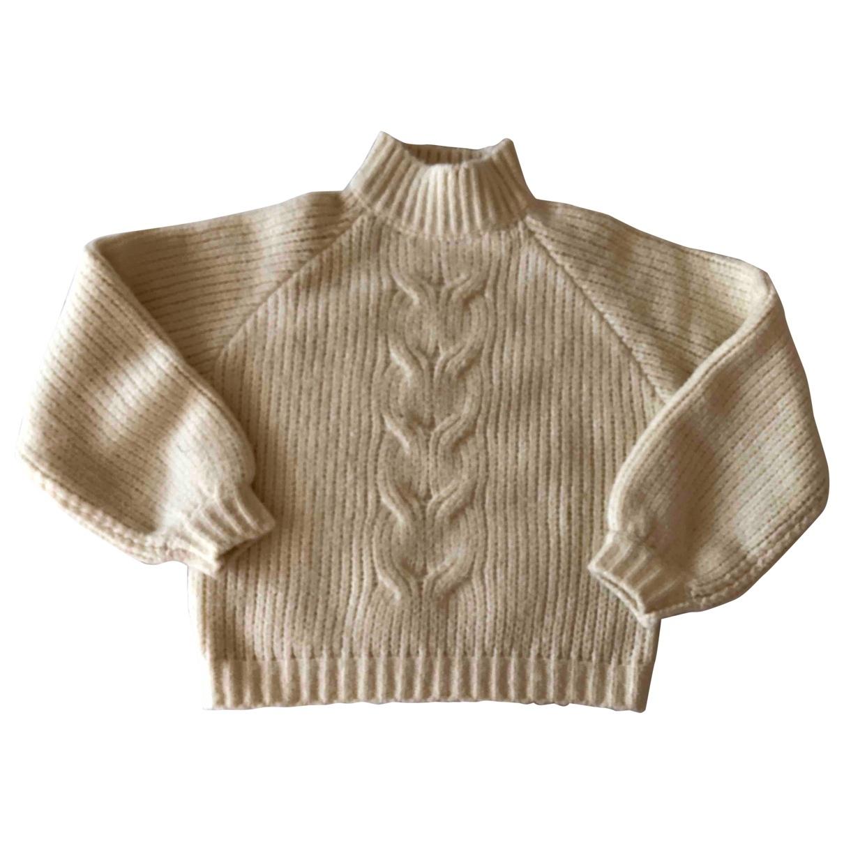 Minimum - Pull   pour femme en laine - beige
