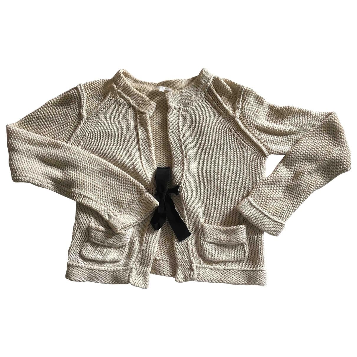 Paule Ka \N Beige Cotton Knitwear for Women 38 FR