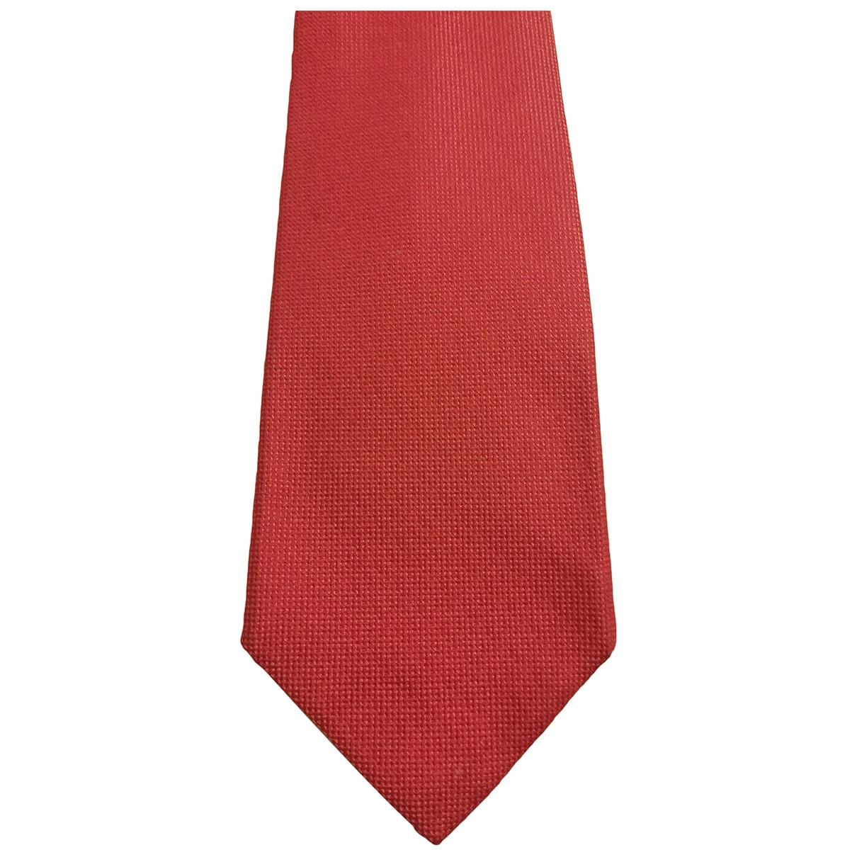 Barba \N Krawatten in  Rosa Seide