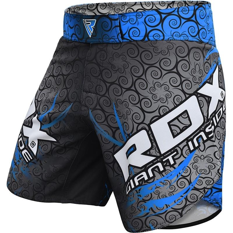RDX R11 Pantalones Cortos de MMA Poliester Azul Mediano