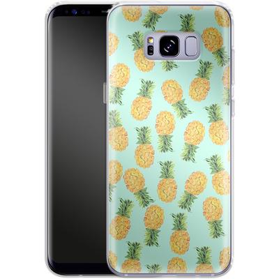 Samsung Galaxy S8 Plus Silikon Handyhuelle - Pineapple von Amy Sia