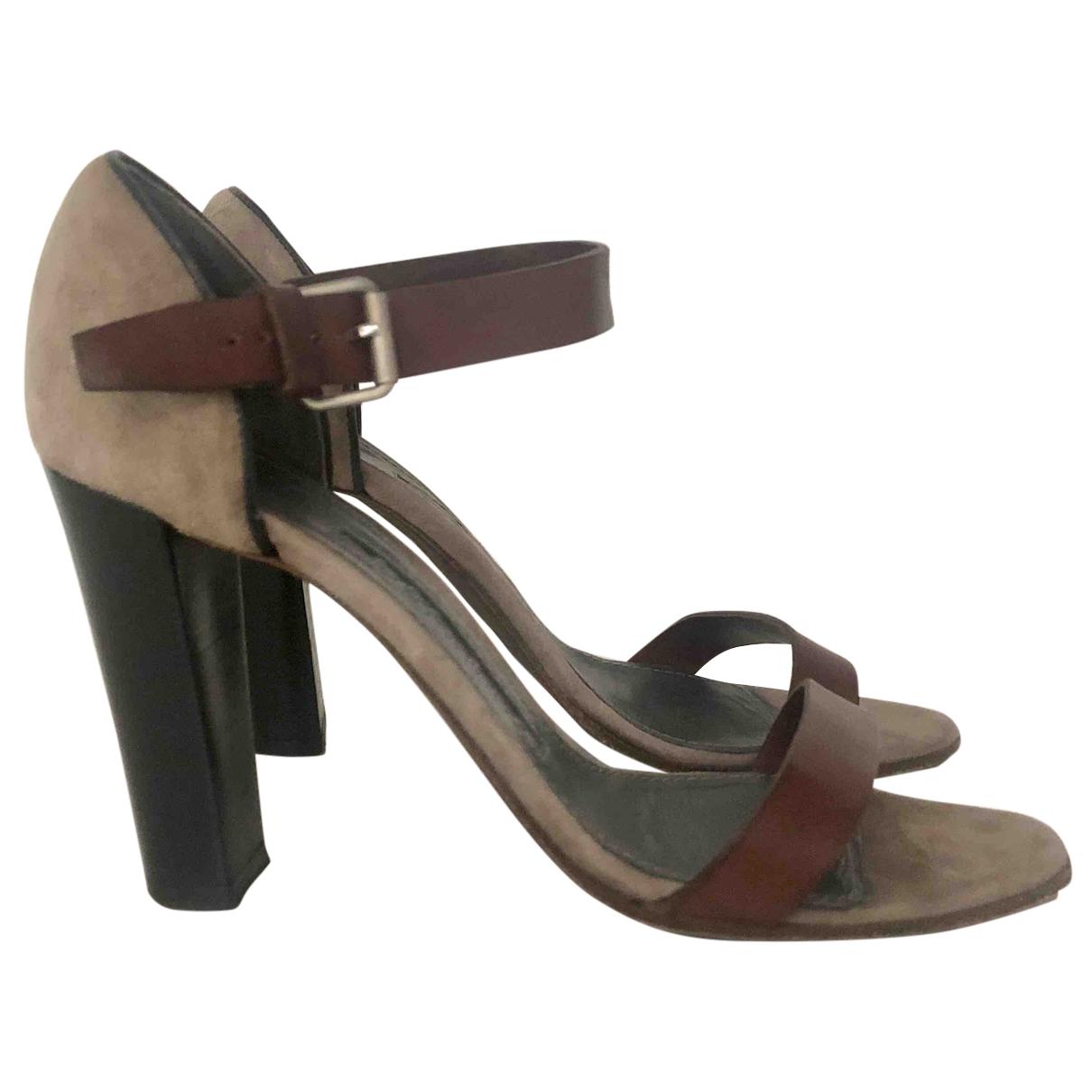 Proenza Schouler \N Brown Leather Sandals for Women 37.5 EU