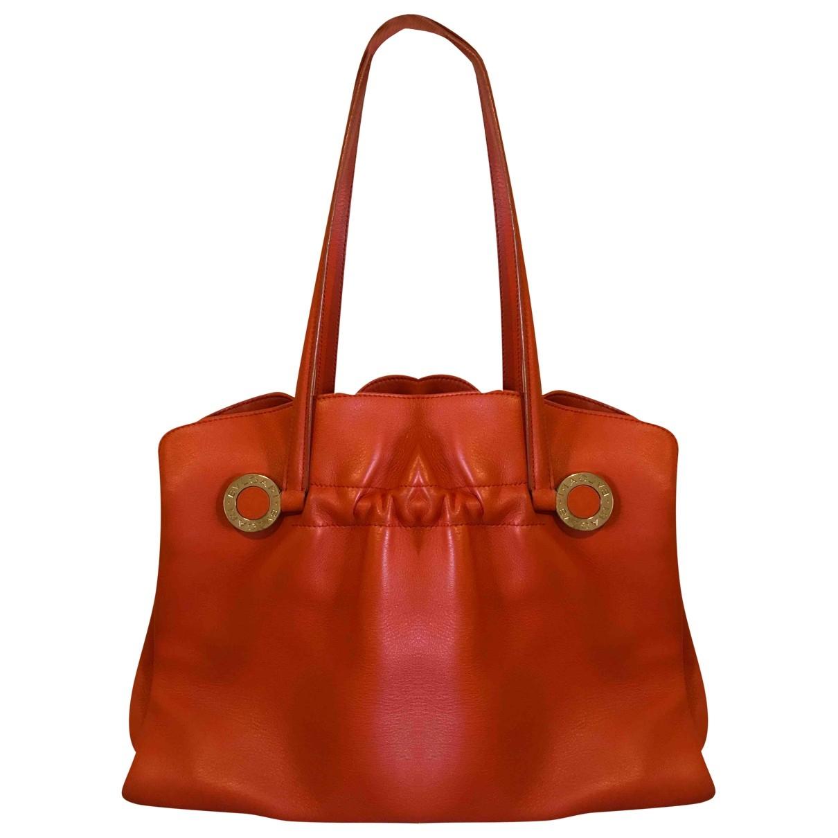 Bvlgari \N Handtasche in  Orange Leder