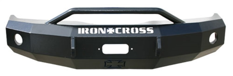 Iron Cross 22-315-03 Heavy Duty Push Bar Front Bumper - Gloss Black GMC Sierra 1500 2003-2006