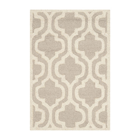 Safavieh Rachyl Geometric Hand Tufted Wool Rug, One Size , Brown
