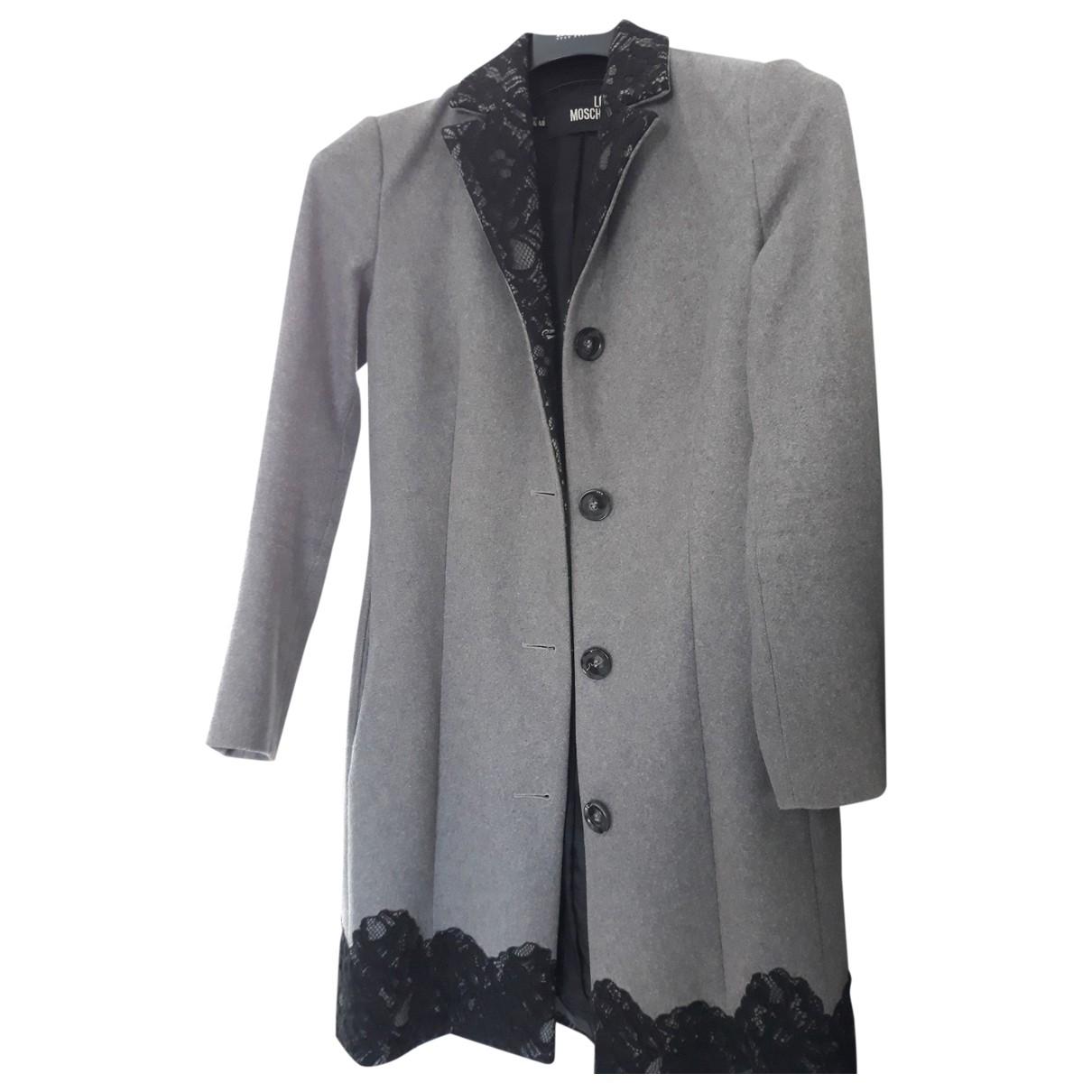 Moschino Love \N Maentel in  Grau Wolle
