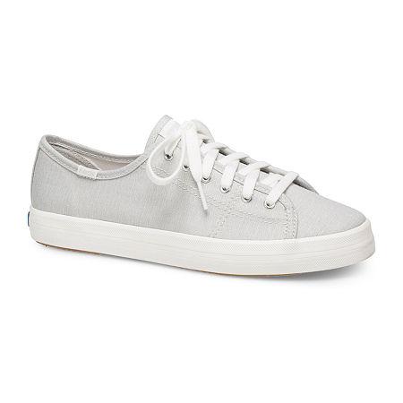 Keds Womens Kickstart Lace-Up Sneakers, 9 1/2 Medium, Gray