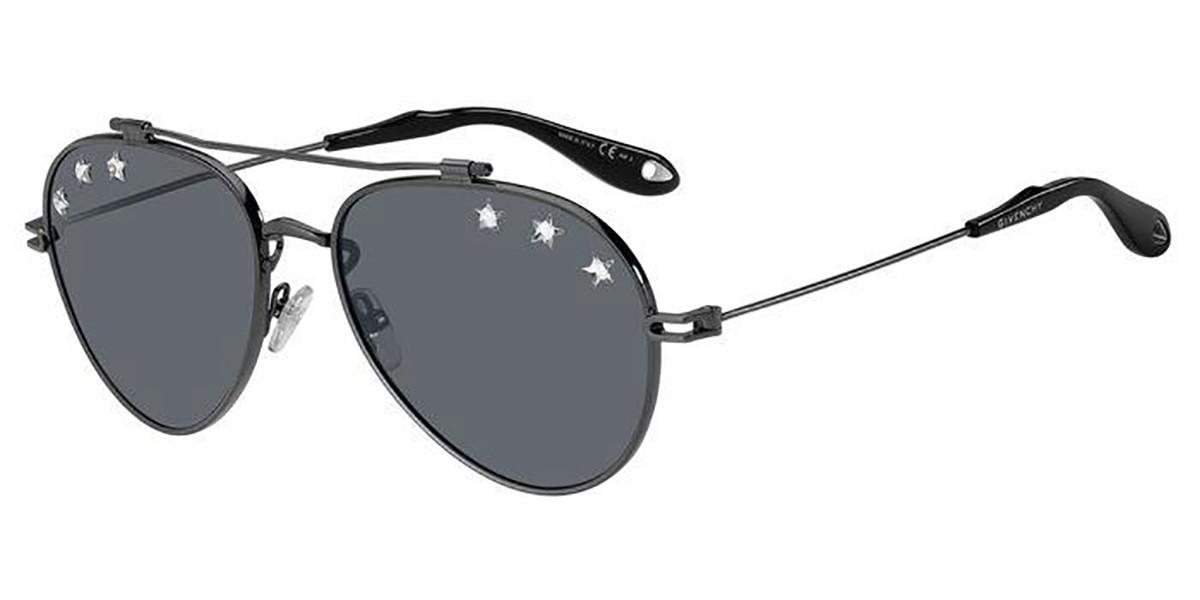 Givenchy GV 7057/N/STARS V81/IR Mens Sunglasses Grey Size 58
